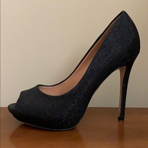 Badgley Mischka Black Platform Stiletto Pumps